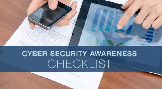 cyber security awareness checklist